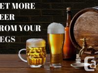GET MORE BEER FROM YOUR KEGS Loss Beer in each Keg,now