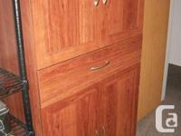 "Four Door, 1 Drawer Storage Unit. 5' High, 30"" Wide,"