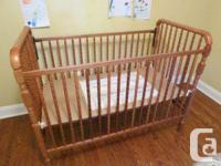 I have a solid wood Storkcraft crib + matress (orgatic