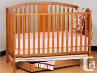 4 in 1 Fixed Side Convertible Crib: converts from a