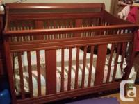 Storkcraft 4-In-1 Stages Convertible Crib - Cherry -