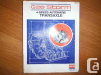 """Geo Storm 4-Speed Automatic Transaxle Service Manual"""