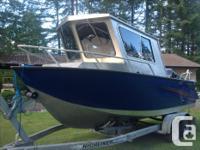 "Built Daigle hull tough, 1/4"" 5052 hull plate, 3/16"""""