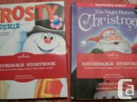 Four Recordable storybooks with Christmas styles. New