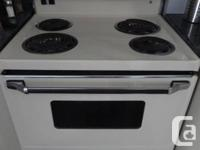 "Electric stove Admiral , 4 elements,  clean, 26"" deep"