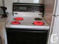 GE STOVE...white/black...can be