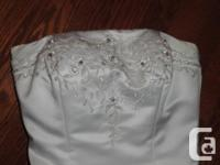 Jasmine Bridal size 10 strapless wedding dress Paid