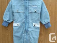 Boys blue one piece Suit size 18M, the Boys Suit is in