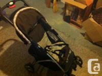 Safety 1 stroller brown and tan,  Decent condition,
