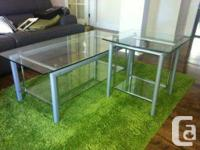 From *STRUCTUBE* -  Tempered glass coffee table - H-17""