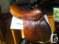 17 all purpose saddle. genuine buttery soft leather.