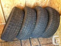 studded winter tires in great shape bought new - used 1