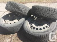 """16"""" Studded Winter Tires on Steel Rims. $200 obo. Tire"""