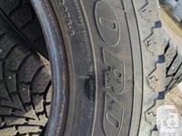 Four studded Nordic winter tires in excellent