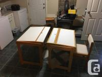 2 Desks with Chairs, $50 each or $75 for both. Real