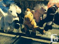 Stuffies of all sorts and sizes. Small stuffies $2,