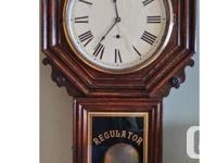 Erie design. In a beautiful strong oak case. This clock