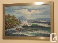 Absolutely beautiful oceanscape painting on a framed