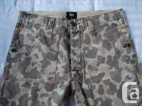 STUSSY Camouflage Pants (NEW).  Crafted from armed
