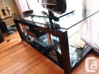 Designer high quality entertainment unit, thick Black