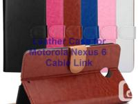 Stylish Wallet Leather Case for Motorola Nexus 6 -Easy