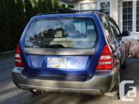 Make Subaru Model Forester Year 2003 Colour Blue kms
