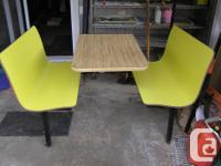 Subway table for sale. Consists of table and two booth