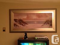 Beautiful Silver Framed Painting by Dianne L.