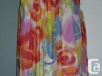 Gorgeous little multicolor dress, size 10, fits girls