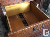 SUMMER SALE Handsome antique solid oak four drawer file