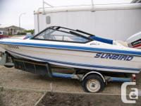 1991 151/2 ft. fiberglass boat with trailer and new