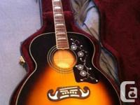 Looking to sell my Epiphone EJ-200 jumbo acoustic