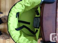 Mountain Buggy portable highchair. This is one of the