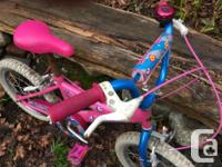 Super cute pink bicycle for girl 3 to 7 years old or