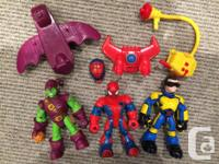 $10 each, 3 for $25, or all 7 for $50 - Spiderman,