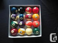 Three collections of basic size billiard spheres