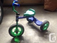 """Supercycle kid 10""""-deluxe tricycle.  Sturdy single bar"""
