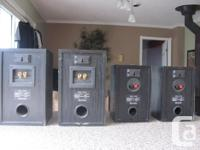 "Sound Accoustics surround speakers. Dimensions are 6"" x"