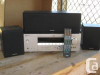 Includes Yamaha receiver with wires/cables + remote