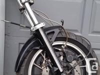 1984 Suzuki GS550ES Complete front end. Dual disc with