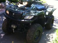 2008 Suzuki King Quad 750axi 4X4 for sale. It had its