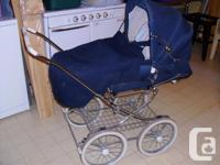 Pram to stroller. Collapses to fit in car. Large