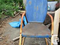 Here is a neat old patio set for sale. Late 40's to