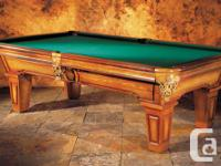Extra-large 8' Seaside swimming pool table made from