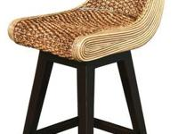 Swivel Counter Stool - Water Hyacinth   CLEARANCE PRICE