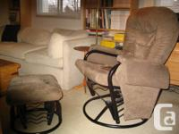 Swivel/reclining chair with ottoman in very good