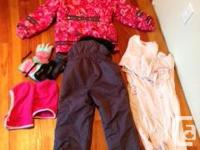 Ski suit, purchased at SportChek, fleece lined,