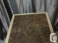 VERY SOLID LITTLE TABLE,GREAT FOR SMALL PLACE. THE