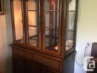 """Used, Table is 60"""" long plus 18"""" leaf 41"""" wide . The buffet for sale  British Columbia"""