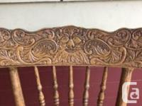 Great oak table and 5 chairs available. Recently